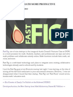 Fast Fig Makes Math More Productive