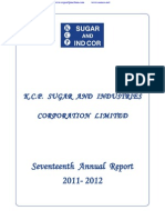KCP Sugar & Industries Corporation Limited 2012