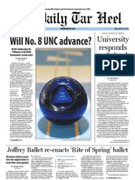 The Daily Tar Heel for March 22, 2013