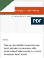 Primary Cephalgia in Daily Practice Dan Gangguan Spinalis