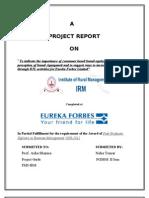 Marketing Project on Eureka Forbes