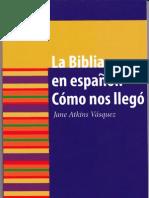 La Biblia en español cómo nos llegó