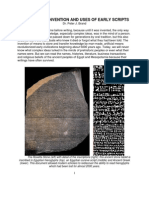 Writing - The Invention and Uses of Early Scripts by Dr. Peter J. Brand