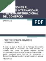 Restricciones Al Comercio Internacional y Sistema Internacional de Comercio