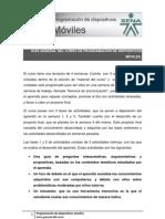 Guía general del curso de Programación de dispositivos móviles