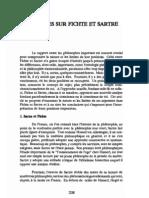 Tom Rockmore - Remarques Sur Fichte Et Sartre