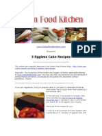 3 Yummy Eggless Cake Recipes