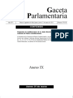 Propuestas de modificaciones al dictámen final Reforma de Telecomunicaciones, México, marzo de 2013