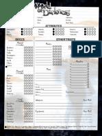 World Of Darkness Character Sheet Pdf