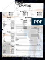 New World of Darkness Character Sheet