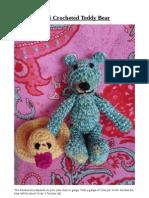 Mini Crocheted Teddy Bear