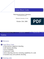2 Linear Block Codes