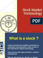 Stock Market Terminology New Mumbai