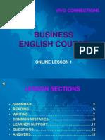 Bec i Online Lesson 1