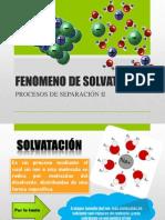 Fenómeno DE SOLVATACIÓN