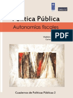 Politica Publica Autonomias Fiscales (2do cuaderno de análisis de políticas públicas)