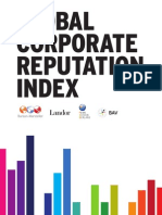 Global Corporate Reputation Index 2012