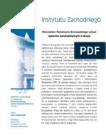Artur Staszczyk, Stanowisko Parlamentu Europejskiego wobec wyborów parlamentarnych w Gruzji