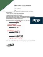 Cara Pemasangan Cctv Standart