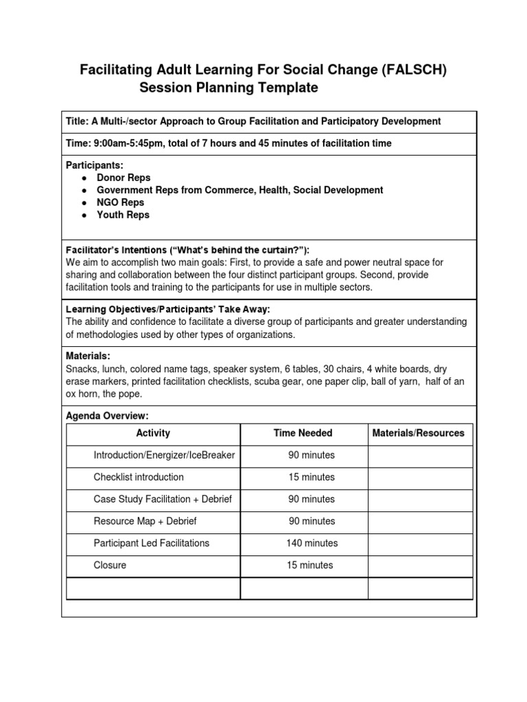 Cute Training Facilitator Guide Template Gallery Entry Level