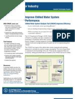 Chilled Water System Analysis Tool Fact Sheet