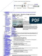 Facility Layout - Objectives, Design and Factors Affecting the Layout