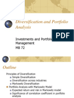 Diversification and Portfolio Analysis