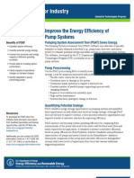 Pumping System Assessment Tool Fact Sheet