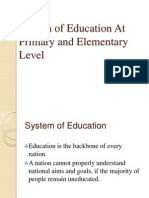 System of Education at Primary and Elementary Level (2)