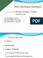 architecture islamique égyptienne; fatimides et mamelouks