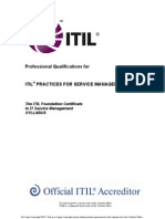 The ITIL Foundation Certificate Syllabus v5.5