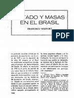 Weffort - Estado y Masas en El Brasil