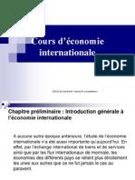 Cours d'économie internationale