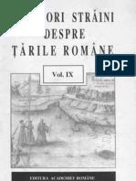 Calatori Straini Despre Tarile Romane, Vol. 9 (1997)
