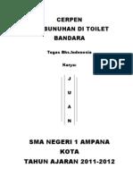 Pembunuhan Di Toilet Bandara Terkunci