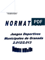 Normativa j.d.m. 2012-2013 Xxvii Edicion