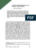 5. LA CONSIDERACIÓN WITTGENSTENIANA DE LA PSICOLOGÍA COMO CIENCIA, JOSÉ LUIS GIL DE PAREJA