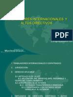 TRABAJADORES INTERNACIONALES  Y ALTOS DIRECTIVOS
