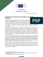 comissão europeia 2013_comunicado de imprensa, orçamentos da educação sobre pressão nos estados membros [21 março]