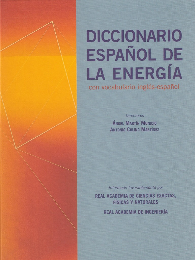 Diccionario Espa Ol De La Energia A M Municio A C Mart Nez Ed  # Muebles Dopazo Villalonga
