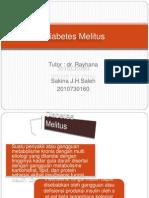 Diabetes Melitus Presentasi