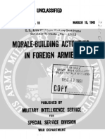 Morale Building Activities in Foreign Armies