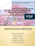 Desenvolvimento Preliminar de Gel de Lapachol Slides