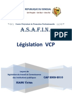 Cours de législation du travail SN et connaissance des institution ASAFIN Fascicule de VCP   2009 2010 - Copie