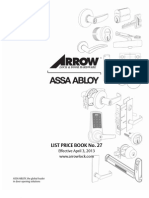 Arrow 2013 Price Book