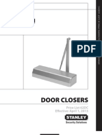 Stanley Door Closer 2013 Price Book