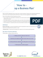 1 Develop a Business Plan
