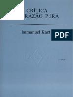 6967030 Kant Immanuel Critica Da Razao Pura