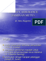 Jaminan Mut - QA