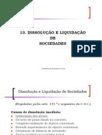 13 Dissolu o Sociedades 2011-2012
